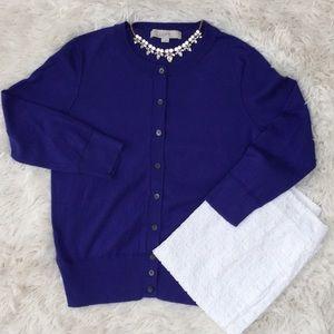 Loft 3/4 Sleeve Cardi 💗 Royal Blue